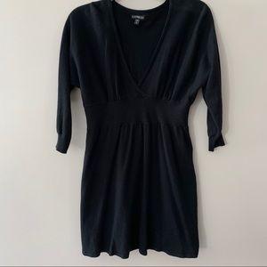 Express Cross Front Sweater Dress